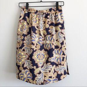 LOFT | Paisley Print Skirt